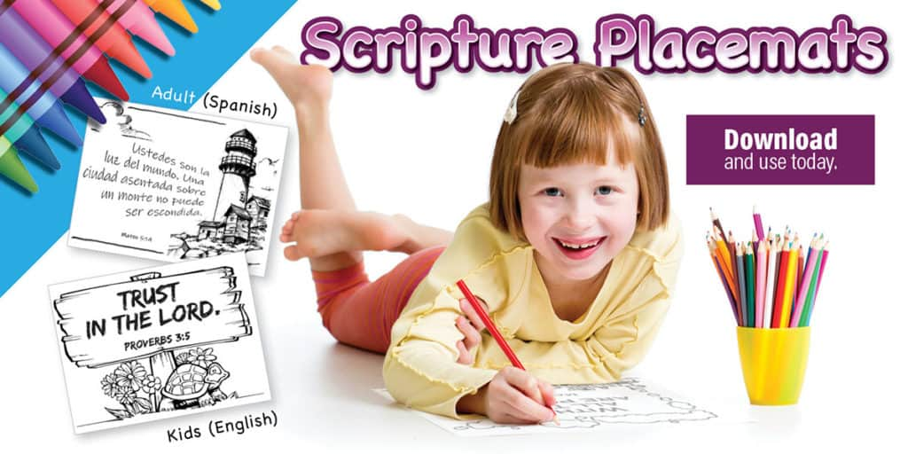 Free Scripture Placemats Childrens Bulletins