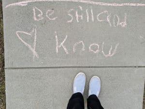 Scripture Sidewalk Chalk Be Still