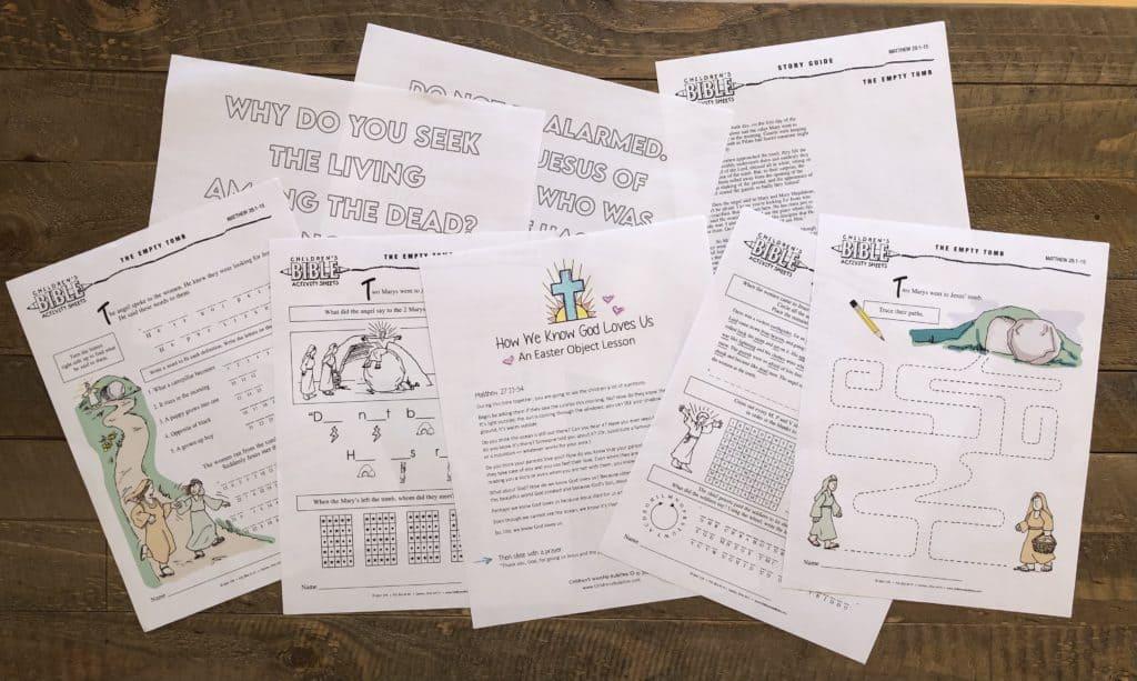 Childrens Worship Bulletins Easter Printable Kit