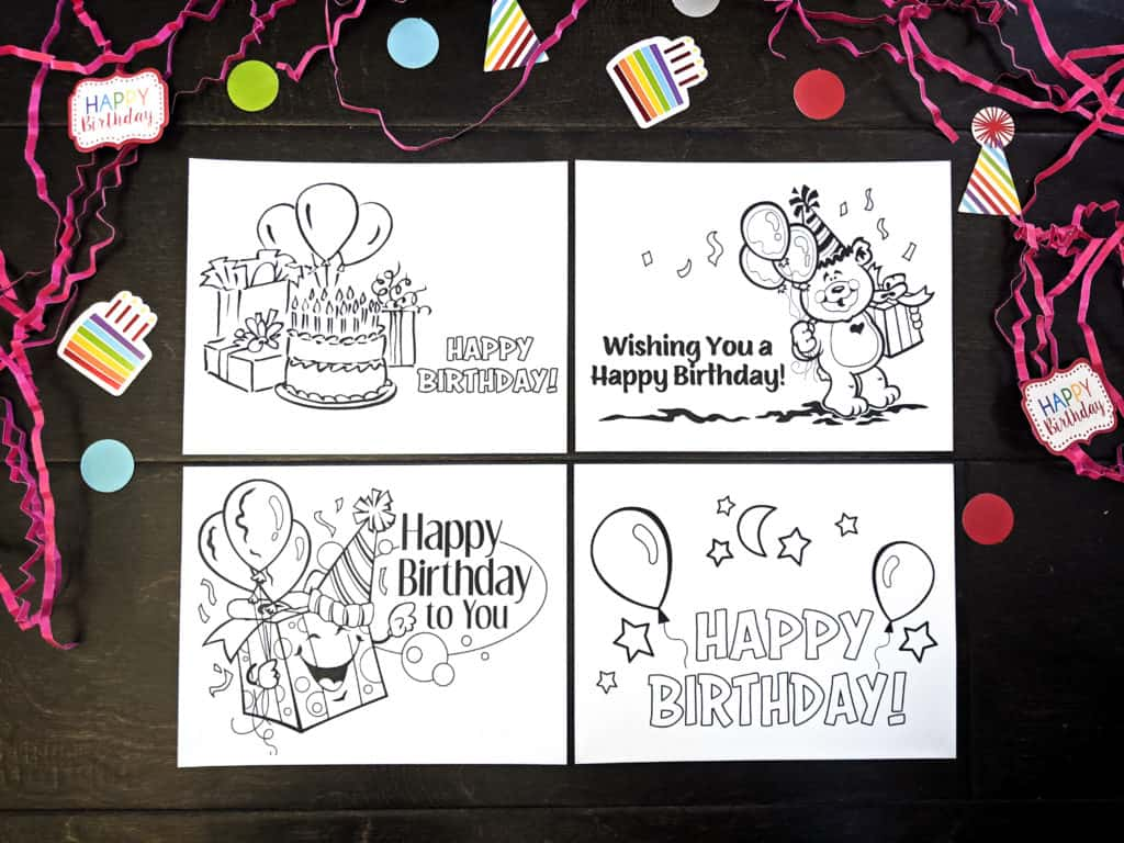 Free Printable Birthday Cards for Kids