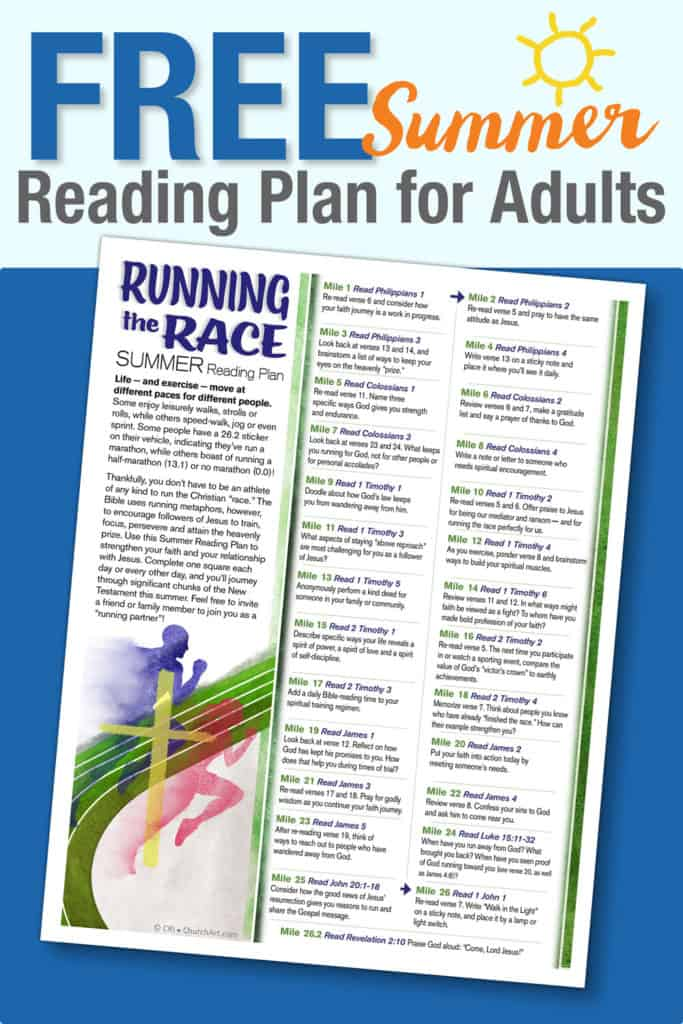 Church Summer Reading Plan For Adults