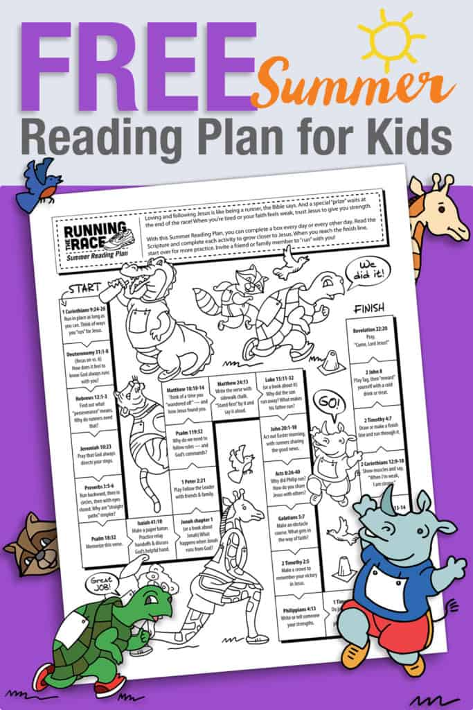 Church Summer Reading Plan For Kids