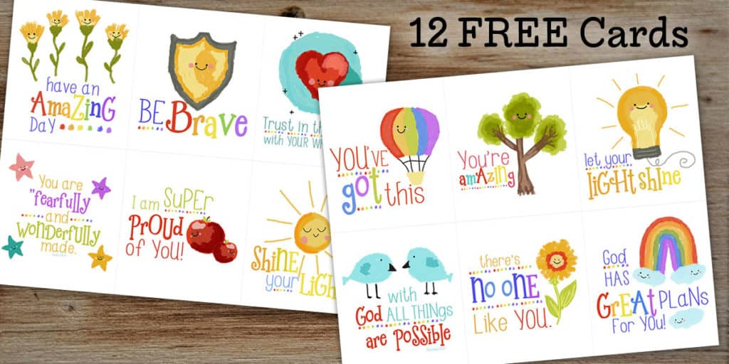 Free Printable Encouragement Cards For Kids Hero Image
